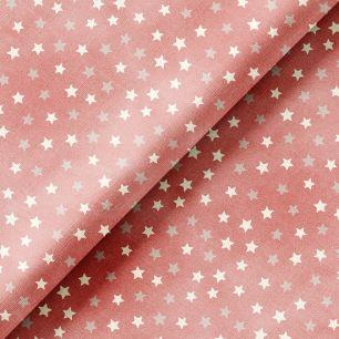 Хлопок Перкаль - Звездочки на розовом 50х37