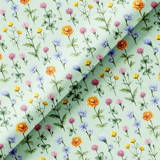 Хлопок Перкаль - Полевые цветы 50х37