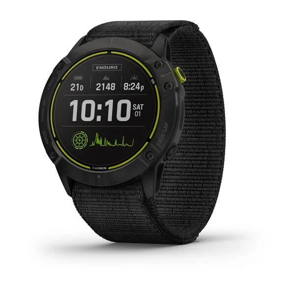 Часы Garmin Enduro Carbon Gray DLC Titanium с серым нейлоновым ремешком UltraFit