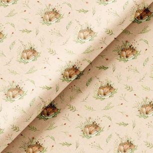 Хлопок Перкаль - Спящие оленята 50х37