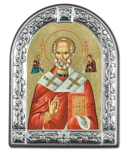 Икона Святитель Николай Чудотворец (Греция, 13*10 см.)