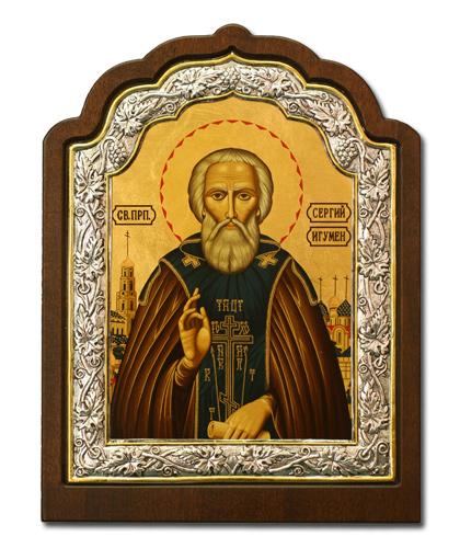 Икона Преподобный Сергий Радонежский (Греция, 20*16 см.)