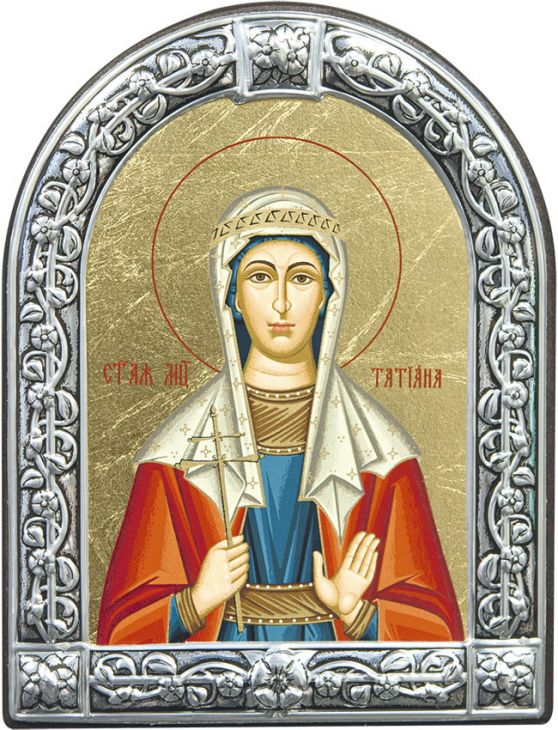 Икона Мученица Татьяна (Греция, 13х10 см.)
