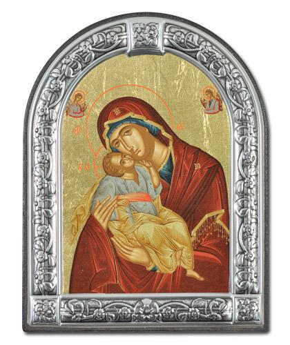 """Икона Божией Матери """"Сладкое лобзание"""" (Греция, 21х16  см.)"""