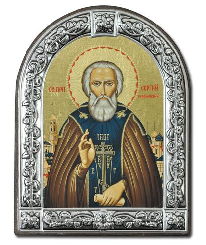 Икона Преподобный Сергий Радонежский (Греция, 13х10 см.)