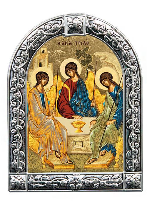 Икона Святая Троица (Греция, 13х10 см.)