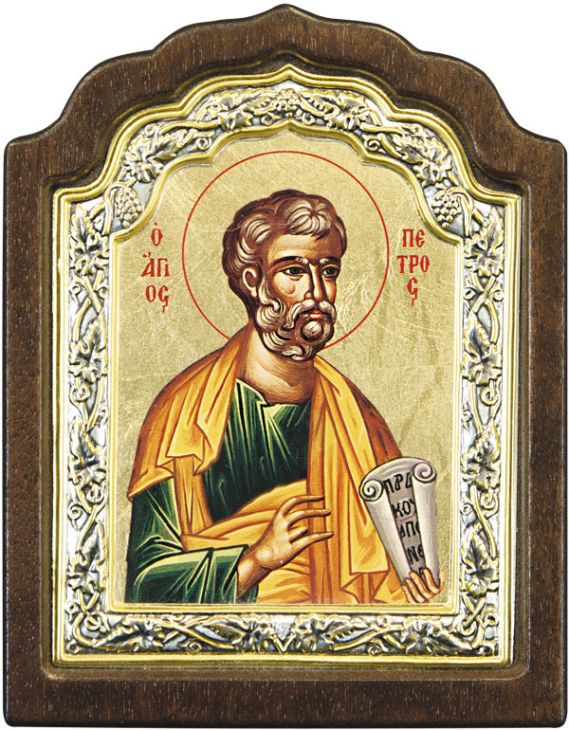 Икона Апостол Петр (Греция, 10х9 см.)