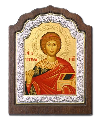 Икона Великомученик Пантелеймон (Греция, 16х11 см.)