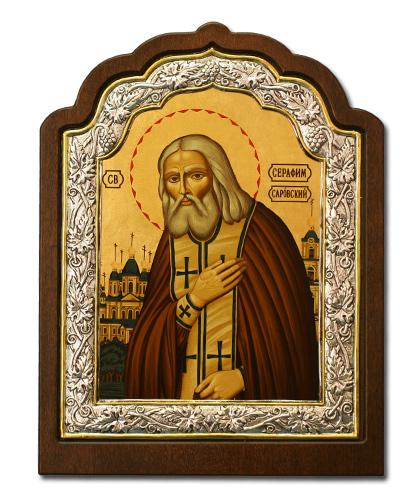 Икона Преподобный Серафим Саровский (Греция, 20х16 см.)