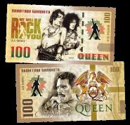 100 рублей - QUEEN - We will Rock you (1) .Памятная банкнота
