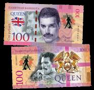 100 рублей - QUEEN - Killer Queen (5) .Памятная банкнота