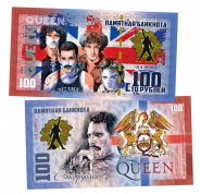 100 рублей - QUEEN - We Are the Champions (6) .Памятная банкнота
