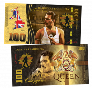 100 рублей - QUEEN - Bohemian Rhapsody (7) .Памятная банкнота