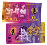 100 рублей - QUEEN - A Kind of Magic (8) .Памятная банкнота