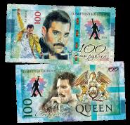 100 рублей - QUEEN - Innuendo (9) .Памятная банкнота