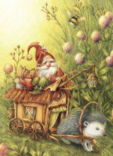 Почтовая открытка Повозка