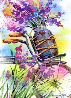 Почтовая открытка Букет лаванды