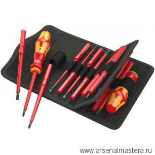 Набор отверток-насадок диэлектрических с рукояткой-держателем 17 предметов Wera Kraftform Kompakt VDE 17 Universal 1 059030