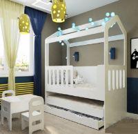 Кровать-домик двухъярусная выкатная Сказка ДС-35