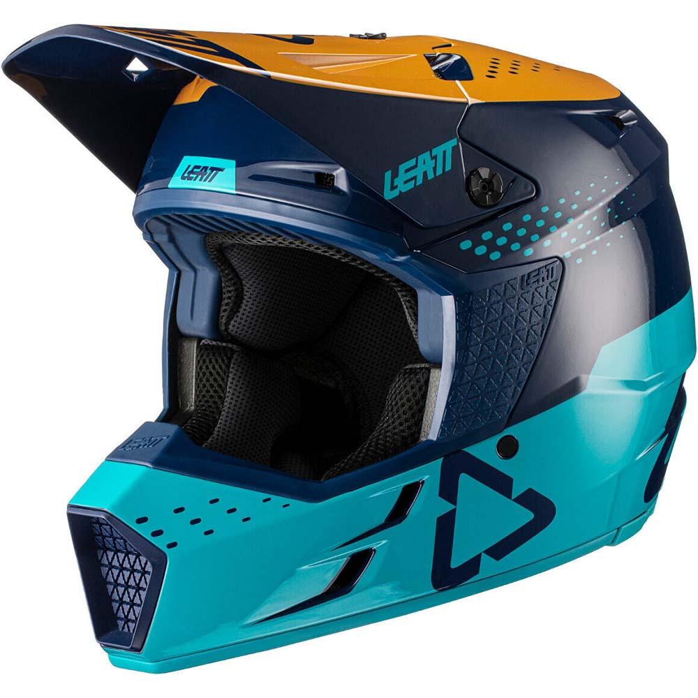 Leatt Moto 3.5 V21.4 Blue шлем внедорожный