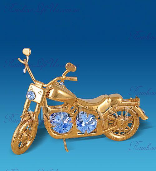 """Фигурка мотоцикл Харлей """"Swarovski"""""""
