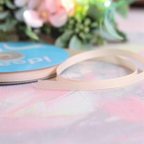 Репсовая лента декоративная - Нюдовая 6 мм