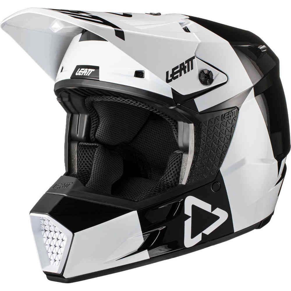 Leatt Moto 3.5 V21.3 Junior Black/White шлем внедорожный