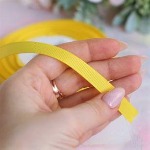 Репсовая лента декоративная - Желтая 10 мм