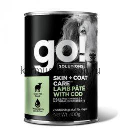 Go! консервы с ягненком и треской для собак всех возрастов