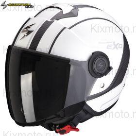 Шлем Scorpion EXO-City Scoot, Матовый белый с черным