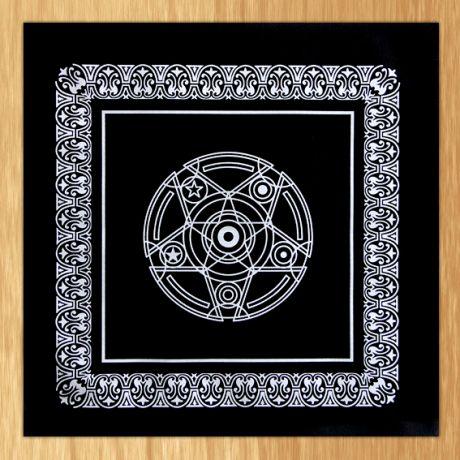 Бархатная скатерть для гадания на Таро 48х48см чёрная