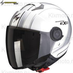 Шлем Scorpion EXO-City Scoot, Бело-серебряный