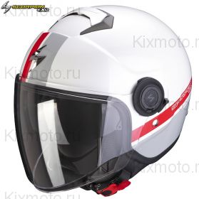 Шлем Scorpion EXO-City Strada, Бело-красно-серебряный