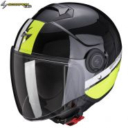 Шлем Scorpion EXO-City Strada, Черно-бело-желтый