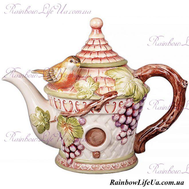 """Заварочный чайник Птица на винограде """"Lefard"""""""