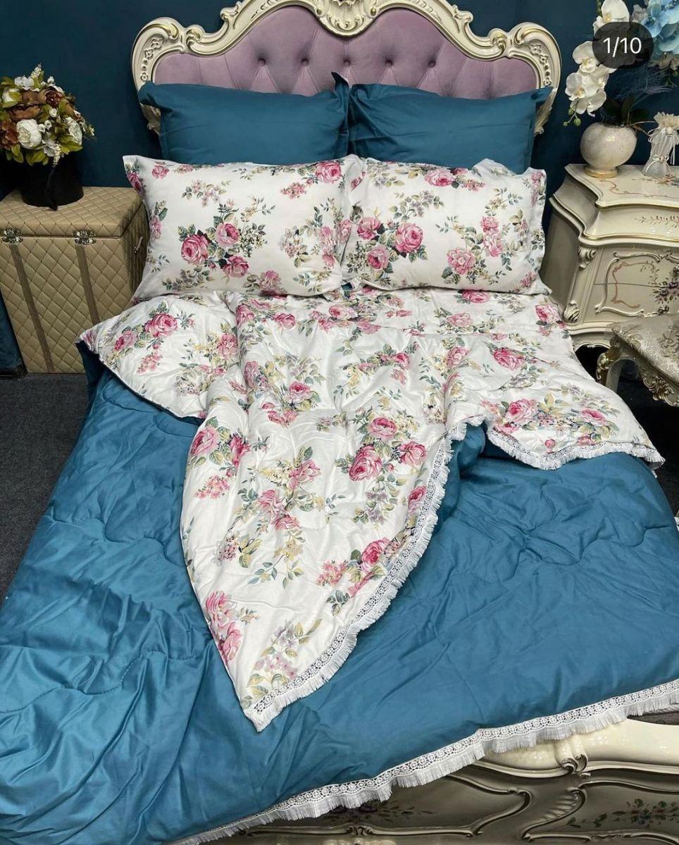 Постельное белье с одеялом вместо пододеяльника из сатина (100% хлопок ) от KazanovA