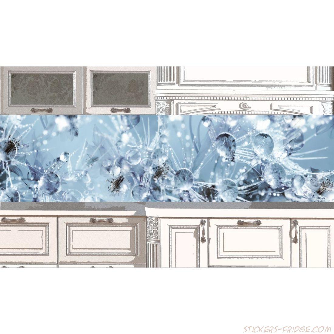 Наклейка на кухонный фартук - ICE