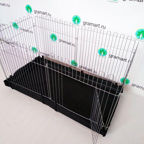 Вольер для собак щенков кошек с Дном 6х64х-73 прямоугольный