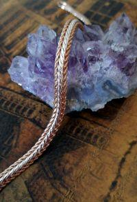 """Позолоченный комбинированный браслет с элегантным плетением """"змейка"""", 5 мм (арт. 2503231)"""