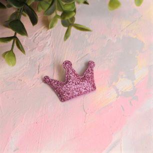 Кукольный аксессуар - Патч Корона малиновая, 1шт