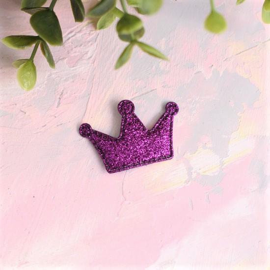 Кукольный аксессуар - Патч Корона фиолетовая, 1шт.