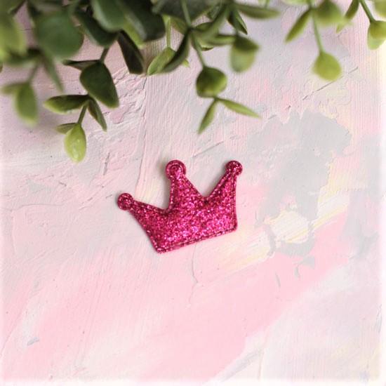 Кукольный аксессуар - Патч Корона ярко-розовая, 1шт