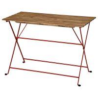 TARNO ТЭРНО, Садовый стол, красный/светло-коричневая морилка, 100x54 см - 004.818.48
