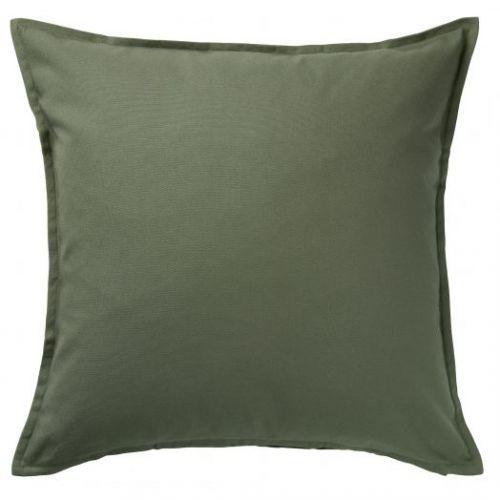GURLI ГУРЛИ, Чехол на подушку, темный оливково-зеленый, 50x50 см - 904.791.86