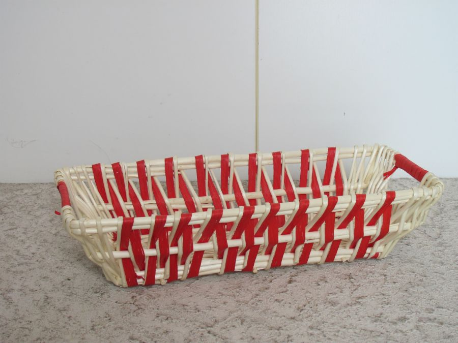 Корзинка плетеная красно-белая 45,5х20х11 см, Grazie Dal Pozzo