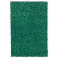 LANGSTED ЛАНГСТЕД, Ковер, короткий ворс, зеленый, 133x195 см - 904.080.47