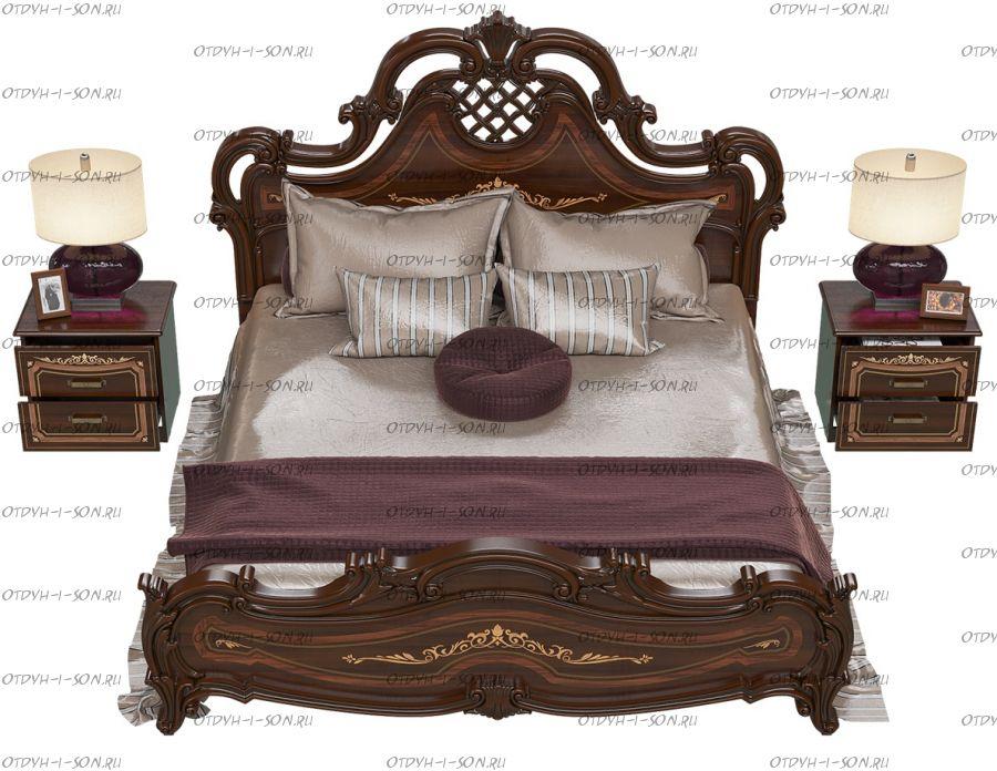 Кровать Грация СГ-04/СГ-10Ш Шелкография МДФ б/о (Спальня)