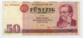 Германия, ГДР - 50 марок 1971. VF, BA 7545664