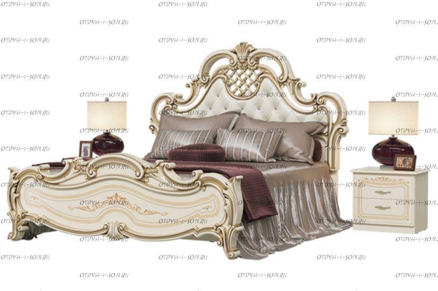 Кровать Грация СГ-04МИ/СГ-10МИ с мягкой спинкой МДФ б/о (Спальня)