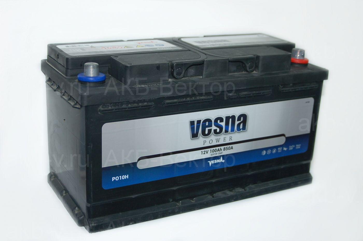 Vesna Power 100Ач 850А(EN)